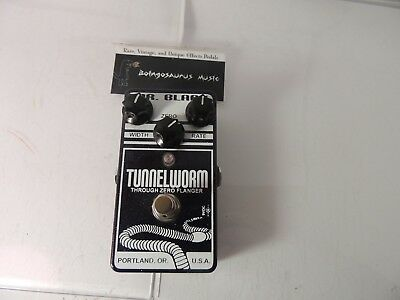 Mr. Black Tunnelworm Through Zero Flanger Effects Pedal Free USA Shipping