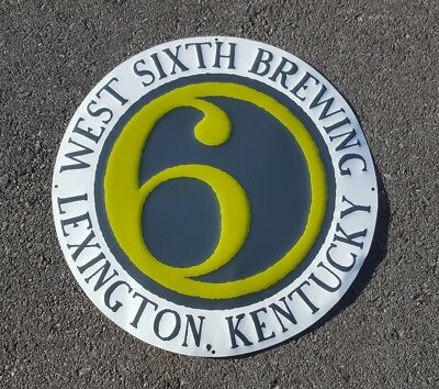 West Sixth Beer Co. Embossed Metal Sign Lexington Kentucky KY Micro Brewery 6th