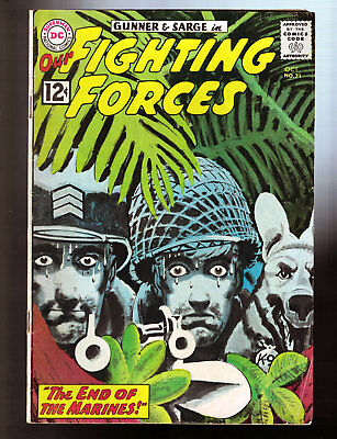 Our Fighting Forces #71 (1962) DC Comics Lichenstein inspire panel GD