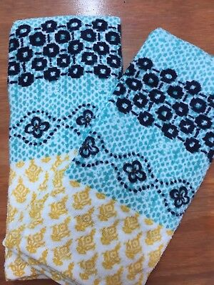 2 pc  Kitchen Hand Towel- Spring Colors- Abstract Pattern Design