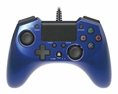 PS4 HORI Pad FPS Plus for PlayStation 3/4 Controller Pad Blue F/S w/Tracking#