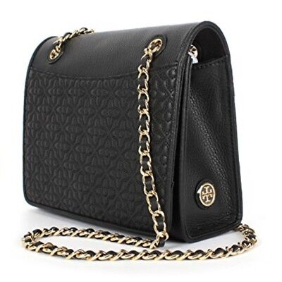 2205a4a8639 NWT Tory Burch Bryant Medium Quilted Black Leather Shoulder bag  Crossbody-   495