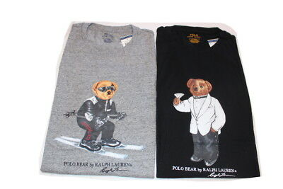 ea3d6774 Polo Ralph Lauren Bear Ski Martini Limited Edition Crew T Shirt Nwt M ~ 3Xl