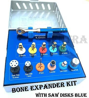 Dental Bone Expander Trephine Sinus Lift Saw Disk Implant Oral 12 Pcs Kit New
