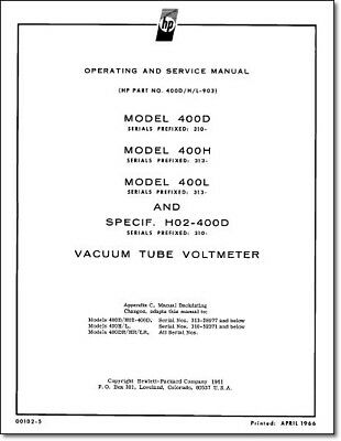 HP 400D / 400H / 400L Service & Operation Manual: Comb Bound & Plastic Covers
