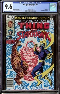 Marvel Two In One # 61 CGC 9.6 White (Marvel, 1980) 1st appearance Her
