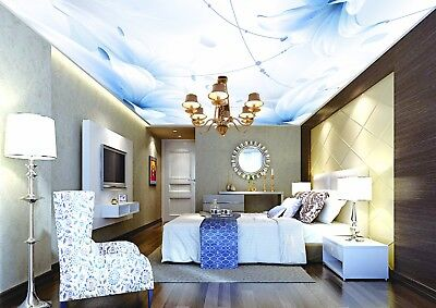 3D Lily Flower Pattern 66 Ceiling Wall Paper Print Wall Indoor Wall Murals CA