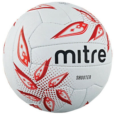 Mitre Shooter Training Match All Surface Netball Ball White (Size 4)