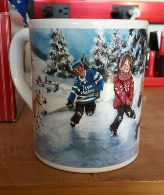 "Tim Hortons ""Skating Pond"" Limited Edition collectors coffee cup mug new"
