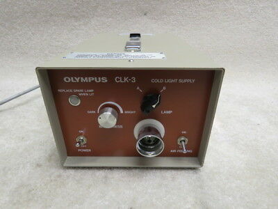 Olympus CLK-3 Cold Light Supply (Light Source) Tested & Fully Functional