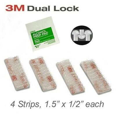 EZ Pass Mounting Kit - 3M Dual Lock Tape - 2 Sets of Peel-and-Stick Strips with