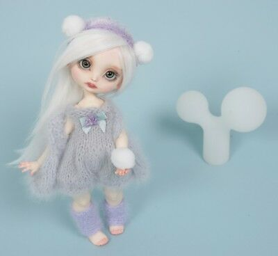 For a Poulpy Lillycat doll or Blythe! Mohair knitted outfit!