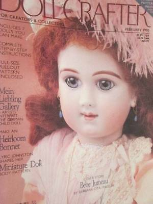 Doll Crafter February 1990 Magazine-Kewpie Dress Pattern/Fairy Princess/Mein Lie