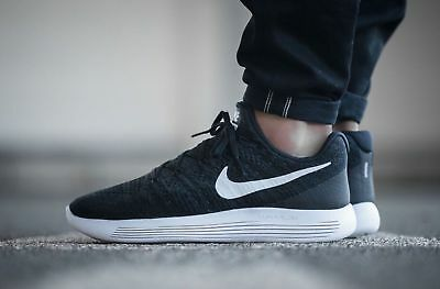 dc09055320a9a Nike Lunarepic Low Flyknit 2 Black White 863779-001 Men s Running Shoes NIB