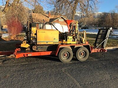1999 Vermeer D7x11a Directional Drill, with complete operational setup.