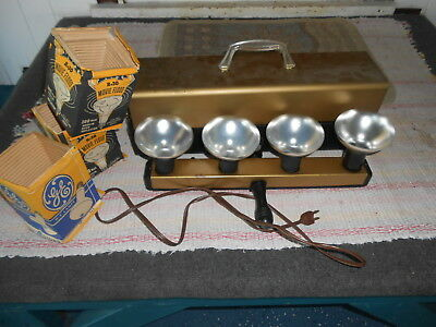 Vintage Home Movie Lights Floodlights Photography 4 Light Bar Mid-Century