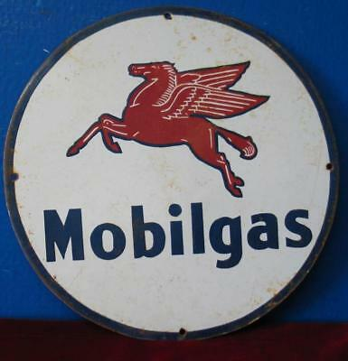 Awesome Mobilgas Porcelain Pump Sign