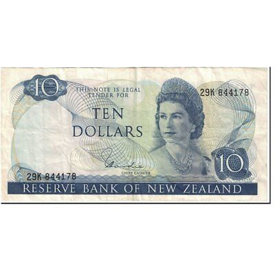 [#601119] Banknote, New Zealand, 10 Dollars, 1977-1981, Undated (1977-1981)