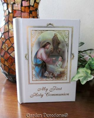 1st First Holy Communion Boy's Missal Jesus and Mary Gilded Gold Pages