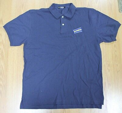 New Blockbuster Video Employee Polo Shirt Navy Blue Size Large