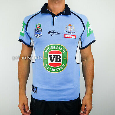 New South Wales Blues 2017 State Of Origin Classic Collar Jersey Size S, M + XL!