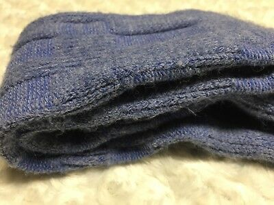 Vintage Blue Knee Hi Socks Long Wispy Fuzziness  9-11