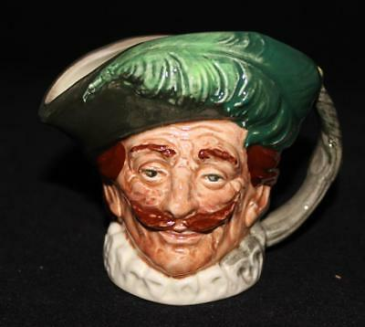 "Royal Doulton Character Toby Jug THE CAVALIER D6173 3 1/4"" Tall Miniature"