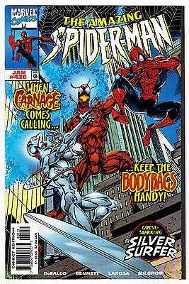 Amazing Spider-Man #430 Nm- High Grade Carnage Silver Surfer Marvel Comics 1998
