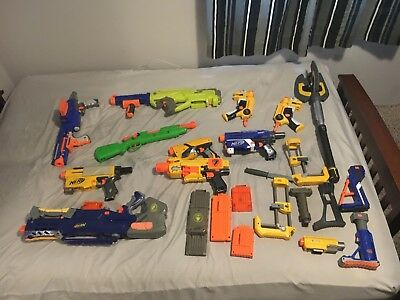 Nerf Gun Lot of 10 Guns and With Accessories!
