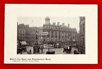 """Old Post Card  """" Gray's Inn Road and Pentonville Road """""""