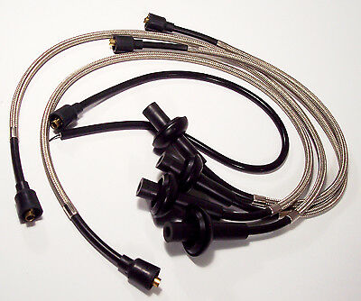 Braided Spark Plug Wires Magnum Polished Stainless 3028S