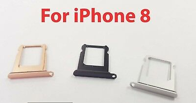 New Replacement Waterproof Nano Sim Card Tray Slot Holder for Apple iPhone 8