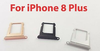 Replacement Waterproof Nano Sim Card Tray Slot Holder for Apple iPhone 8 Plus