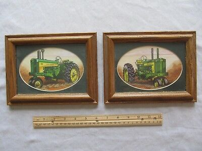 John Deere Tractor Prints (2) Matted and Framed Pictures