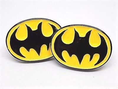Batman Resin Cufflinks, Silver Plated Toggles, Gift Boxed!