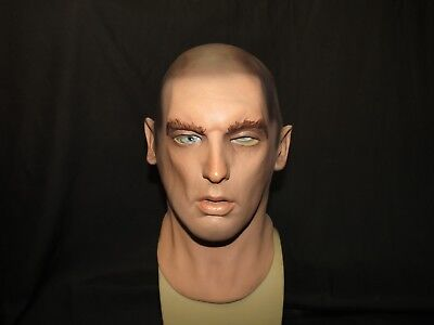 Rick Realistic Latex Mask Made By Greyland Film. G-Face./UK STOCK/Video Clip