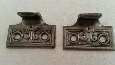 Pair Large Antique  Cast Iron Sash Lifts Window Lifts Cleaned (129H)