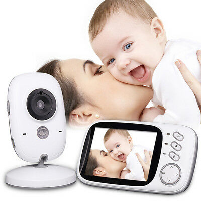 Audio Video Baby Monitor Wireless Digital Camera Night Vision Safety Whit Dwdy