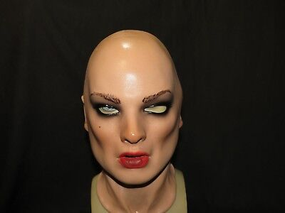 Francesca Realistic Latex Female Mask Made By Greyland Film/UK STOCK/Video Clip
