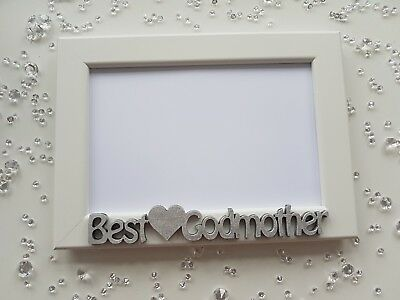 PHOTO FRAME PERSONALISED Best Godmother / Godfather Christening ...