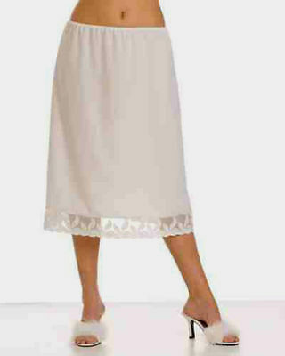 "100%COTTON Underskirt Waist Skirt Half Slip >2 LENGTHS AVAILABLE 25"" & 35""(MAXI)"