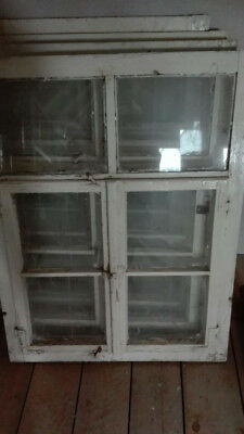 Altes sprossenfenster landhaus antik retro paar 90 x 50 cm - Altes fenster deko ...