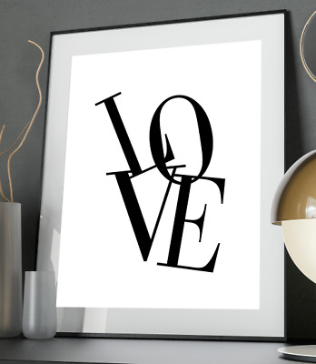 Love Inspirational Quote Poster Art Print A3 A4 A5 A6 Decor Gift Wall Wedding