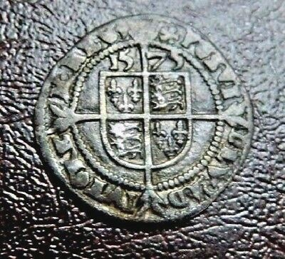 3P High Grade Tudor Period 1575 Elizabeth 1St Silver Threepence Rose Beside Bust