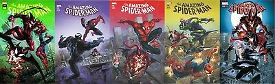 Amazing Spiderman 796 797 798 799 800 Clayton Crain Variant 5 Pack Set Pre-Sale