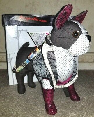 LIMITED EDITION ELVIS Fuzzy Nation HANDBAG Boston-in-Boots BOSTON TERRIER Purse