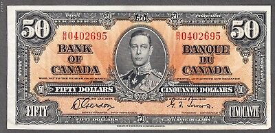 1937 Bank of Canada $50.00 Note - EF - Gordon Towers Signatures - B/H 0402695