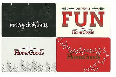 Lot of (4) Homegoods Christmas Holiday Winter Gift Cards No $ Value Collectible
