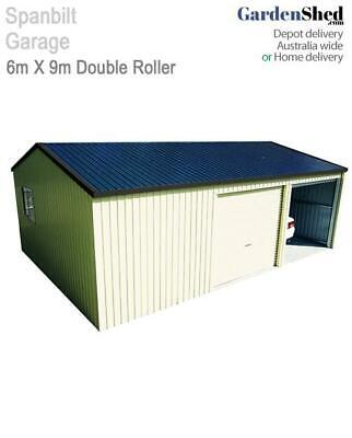 Spanbilt Double Garage with Workshop 6m x 9m - 2.7m Wall