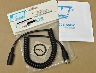 NOS J&M Z-Series Lower Section 8-Pin 83-15 Yamaha Headset Connection Cord HC-ZC
